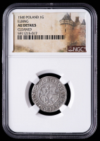 1540 Sigismund I Poland, Elbing 1 Grosch Medieval Silver Coin (NGC AU Details) at PristineAuction.com