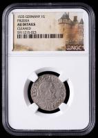 1535 Albrecht von Brandenburg Prussia, Germany 1 Grosch Medieval Silver Coin (NGC AU Details) at PristineAuction.com