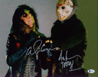 "Alice Cooper & Ari Lehman Signed ""Friday the 13th"" 11x14 Photo Inscribed ""Jason 1"" (Beckett COA) at PristineAuction.com"