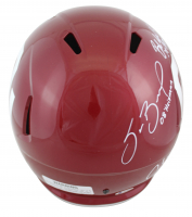 Oklahoma Sooners Full-Size Speed Helmet Signed by (6) With Kyler Murray, Baker Mayfield, Sam Bradford, Jason White With Multiple Inscriptions (Beckett COA) at PristineAuction.com