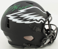 """Miles Sanders Signed Eagles Full-Size Authentic On-Field Eclipse Alternate Speed Helmet Inscribed """"Fly Eagles Fly"""" (JSA COA) at PristineAuction.com"""