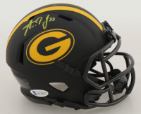 Aaron Jones Signed Packers Eclipse Alternate Speed Mini Helmet (Beckett COA) at PristineAuction.com