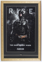 """The Dark Knight Rises"" 15x22 Custom Framed Poster Print Display with Batman Pin at PristineAuction.com"