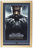 """Black Panther"" 15x22 Custom Framed Print Display with Official Marvel Black Panther Pin at PristineAuction.com"