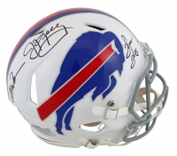 Jim Kelly, Andre Reed & Thurman Thomas Signed Bills Full-Size Authentic On-Field Speed Helmet (JSA COA) at PristineAuction.com