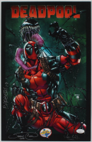 "Jeremy Clark, Jorge Cortes & Carlo Barberi Signed ""Deadpool"" 11x17 Print Inscribed ""2017"" & ""'17"" (JSA COA) at PristineAuction.com"