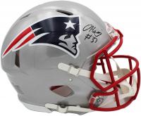 Damien Harris Signed Patriots Full-Size Authentic On-Field Speed Helmet (Radtke COA) at PristineAuction.com