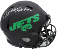Curtis Martin Signed Jets Full-Size Authentic On-Field Eclipse Alternate Speed Helmet (Radtke COA) at PristineAuction.com