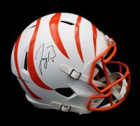 Joe Burrow Signed Bengals Full-Size Matte White Speed Helmet (Fanatics Hologram) at PristineAuction.com