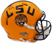 Justin Jefferson Signed LSU Tigers Full-Size Authentic On-Field Speed Helmet (Beckett COA) at PristineAuction.com