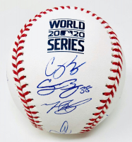 Los Angeles Dodgers OML Baseball Team-Signed by (12) with Mookie Betts, Clayton Kershaw, Cody Bellinger, Corey Seager (Fanatics & MLB Hologram) at PristineAuction.com