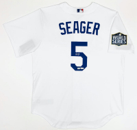 Corey Seager Signed Los Angeles Dodgers 2020 World Series Champion Patch Jersey (Fanatics Hologram & MLB Hologram) at PristineAuction.com