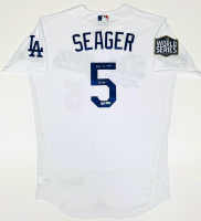 "Corey Seager Signed Los Angeles Dodgers 2020 World Series Champion Patch Jersey Inscribed ""2020 WS MVP"" (Fanatics Hologram & MLB Hologram) at PristineAuction.com"
