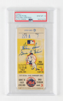 "Nolan Ryan Signed Original Vintage 1969 National League Championship Series Game Ticket Inscribed ""Game 3 Win"" (PSA Encapsulated) at PristineAuction.com"