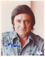 Johnny Cash Signed 8x10 Photo (PSA LOA) at PristineAuction.com