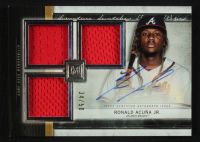 Ronald Acuna Jr. 2020 Topps Museum Collection Signature Swatches Triple Relic Autographs #SSTARA at PristineAuction.com