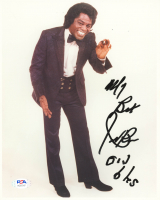 """James Brown Signed 8x10 Photo Inscribed """"My Best"""" (PSA Hologram) at PristineAuction.com"""