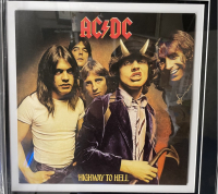 """""""AC/DC"""" 20x47 Custom Framed Cut Display Signed by (6) with Bon Scott, Angus Young, Malcom Young, Phil Rudd, Cliff Williams & Brian Johnson (PSA Encapsulated) at PristineAuction.com"""