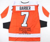 Bill Barber Signed Career Highlight Stat Jersey (PSA COA) at PristineAuction.com