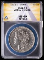 1884-O Morgan Silver Dollar, VAM-5A (ANACS MS60 Details) at PristineAuction.com
