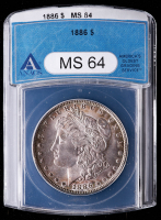1886 Morgan Silver Dollar (ANACS MS64) (Toned) at PristineAuction.com