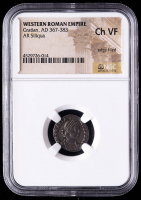 Gratian A.D. 367-383 Roman Empire AR Siliqua Ancient Silver Coin (NGC Ch VF) at PristineAuction.com