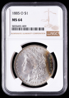 1885-O Morgan Silver Dollar (NGC MS64) (Toned) at PristineAuction.com