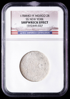 SS New York Shipwreck 1784-Mo FF Mexico 2 Reales Silver Coin (NGC Encapsulated) at PristineAuction.com