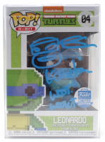 "Kevin Eastman Signed ""Teenage Mutant Ninja Turtles"" #04 Leonardo 8-Bit Funko Pop! Vinyl Figure with Hand-Drawn Turtles Sketch & Inscription (JSA COA) at PristineAuction.com"