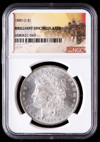 1885-O Morgan Silver Dollar - Stage Coach Label (NGC Brilliant Uncirculated) at PristineAuction.com