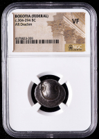 c.304-294 B.C. Boeotia (Federal) AR Drachm Ancient Greek Silver Coin (NFC VF) at PristineAuction.com