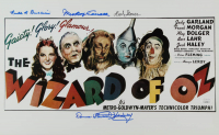 """""""The Wizard Of Oz"""" 10.75x17 Print Cast-Signed by (4) with Mickey Carroll, Donna Stewart-Hardaway, Karl Slover & Ruth Duccini (JSA COA) at PristineAuction.com"""