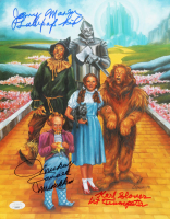 "Mickey Carroll, Jerry Maren & Karl Slover Signed ""The Wizard of Oz"" 11x14 Photo with (3) Character Inscriptions (JSA COA) at PristineAuction.com"