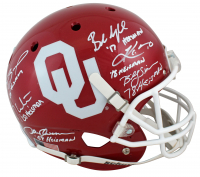 Oklahoma Sooners Heisman Winners Full-Size Helmet Signed by (6) with Kyler Murray, Billy Sims, Baker Mayfield, Sam Bradford, Jason White, & Steve Owens with Heisman Inscriptions (Beckett COA) at PristineAuction.com