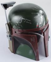 "Jeremy Bulloch Signed Star Wars ""Boba Fett"" Full-Size Deluxe Edition Star Wars Helmet Inscribed ""Boba Fett"" (Radtke COA) at PristineAuction.com"