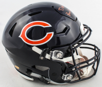 "David Montgomery Signed Bears Full-Size Authentic On-Field SpeedFlex Helmet Inscirbed ""Bears Down!"" (JSA COA) at PristineAuction.com"
