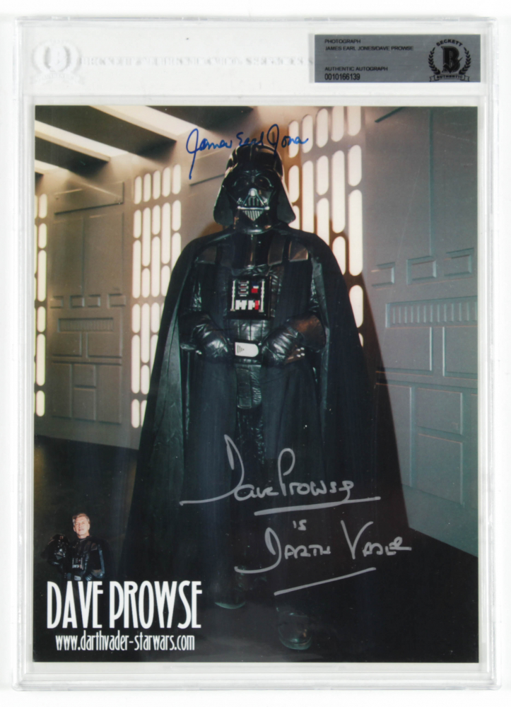 """Dave Prowse & James Earl Jones Signed """"Star Wars"""" 8x10 Photo Inscribed """"Is Darth Vader"""" (BAS Encapsulated) at PristineAuction.com"""
