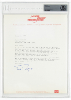 "Fred Rogers Signed 1991 ""Mister Rogers' Neighborhood"" 8x10 Typed Letter (BAS Encapsulated) at PristineAuction.com"