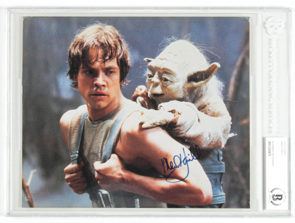 "Mark Hamill Signed Star Wars ""The Empire Strikes Back"" 8x10 Photo (BAS Encapsulated) at PristineAuction.com"