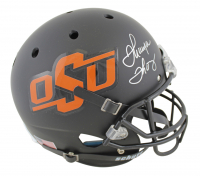 Thurman Thomas Signed Oklahoma State Cowboys Full-Size Matte Black Helmet (JSA COA) at PristineAuction.com