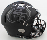 Jerry Rice & Joe Montana Signed 49ers Full-Size Matte Black Speed Helmet (Beckett COA) at PristineAuction.com