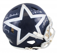 Cowboys Full-Size Authentic On-Field AMP Alternate Speed Helmet Signed by (4) with Roger Staubach, Troy Aikman, Dak Prescott, & Tony Romo (Beckett COA) at PristineAuction.com