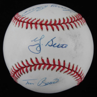 OAL Baseball Signed by (4) with Yogi Berra, Dale Berra, Larry Berra & Tim Berra (Beckett LOA) at PristineAuction.com