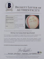 1996 Yankees OAL Baseball Signed by (5) with Derek Jeter, Andy Pettitte, Paul O'Neill, Bob Wickman & Mark Hutton (Beckett LOA) at PristineAuction.com