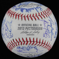 2013 Postseason Tigers Team-Signed OAL Baseball Signed by (35) with Jim Leyland, Justin Verlander, Max Scherzer, Miguel Cabrera, Prince Fielder (Beckett LOA) at PristineAuction.com