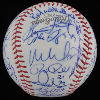 2013 Postseason Tigers Team-Signed Baseball Signed by (35) with Jim Leyland, Justin Verlander, Max Scherzer, Miguel Cabrera, Prince Fielder (Beckett LOA) at PristineAuction.com