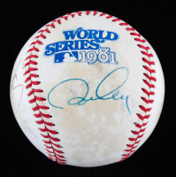 Steve Yeager & Ron Cey Signed Official 1981 World Series Baseball (Beckett COA) at PristineAuction.com