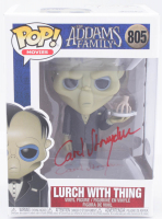 """Carel Struycken Signed """"The Addams Family"""" #805 Lurch With Thing Funko Pop! Vinyl Figure (PSA Hologram) at PristineAuction.com"""