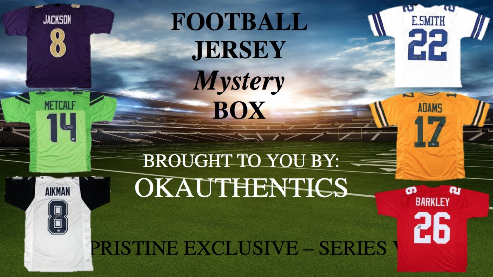 OKAUTHENTICS Pro Football Jersey Mystery Box Series VII at PristineAuction.com