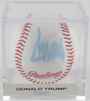 Donald Trump Signed Baseball with Display Case (Beckett LOA) at PristineAuction.com